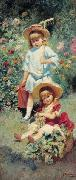 Konstantin Makovsky Children of the Artist, oil painting reproduction